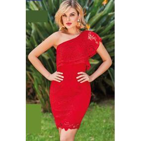 Vestido Rojo De Crochet Cklass 998-02