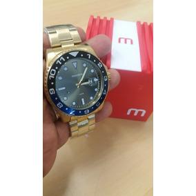 Relógio Dourado Analógico Mondaine