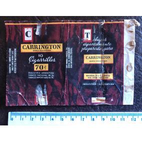 Antigua Marquilla Etiqueta De Papel Cigarrillos Carrington