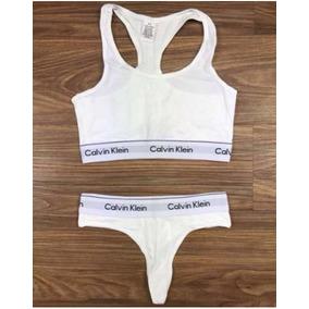0690b381b4 Top Calvin Klein Cinza Moda Intima Lingerie Conjuntos - Lingerie no ...