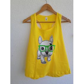 55757e69c Blusa Bulldog Frances - Camisetas e Blusas Regatas no Mercado Livre ...