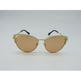 e7c0b56a5adf6 Óculos De Sol Feminino Vezatto Bege Metal 17205