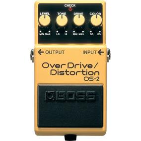 So Hoje!pedal Boss Os-2 Distortion E Overdrive - Excelente!