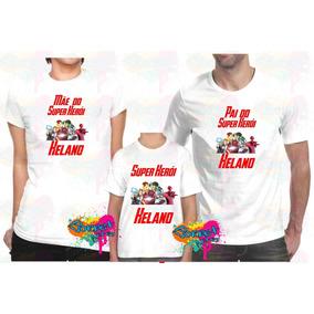 Camiseta Personalizada Vingadores Festa - Camisetas e Blusas no ... 48f14a70bafa4