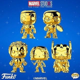Funko Pop - Capitan America - Gold- Iron Man -chase - Queen