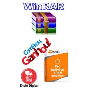 Winrar 2019 Descompactador De Arquivos Mais Avast Antivirus