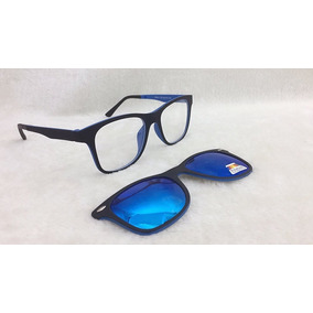 Armação De Óculos P  Grau Clip On 2 Em 1 Polarizado S002 c28bc5cc9c