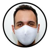 Máscara De Pano Reutilizável Dupla Camada - 1 Pç - Branca
