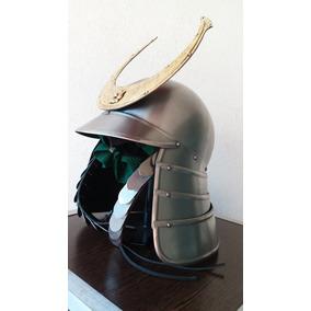 Casco De Samurai Kabuto De Acero Siglo Xvi