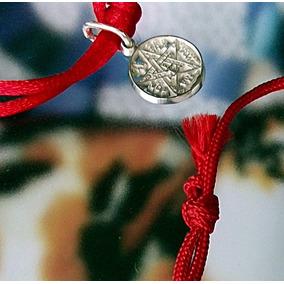 Proteccion Pulsera Roja Y Dije Tetragramaton Mini Plata Ley