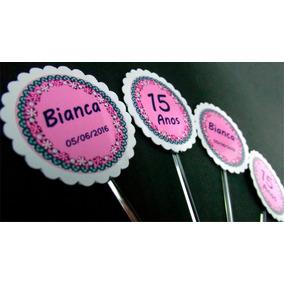 60 Toppers Para Doce Ou Cupcake Personalizado Festa 15 Anos
