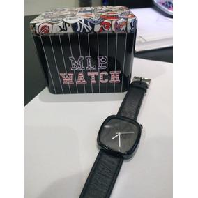Relógio Social Luxo New York-mlb Pulseira Couro