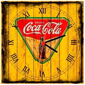2adcb5a7768 Relógio Vintage King Mdf 27x27 Coca Cola Cloqbc.0002. R  29 98