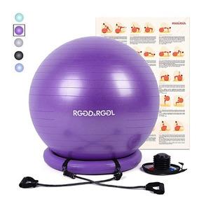 Rggd Pelota De Yoga 65cm Anillo De Estabilidad Color Morado1 39637355a56d