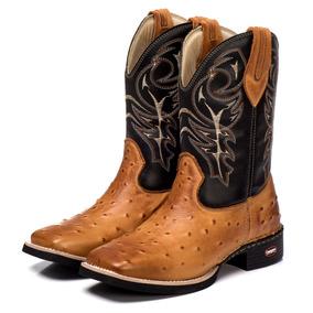 Bota Country Em Couro De Avestruz Masculino Botas - Calçados e09b7b131b8