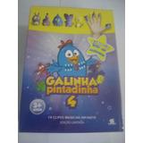 Kit Dvd + Cd + 5 Dedoches Galinha Pintadinha 4 - Orig Novo