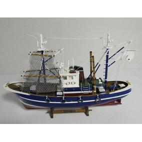 Barco Navio Decorativo Hobbie De Madeira 57cx38h 58029-58f