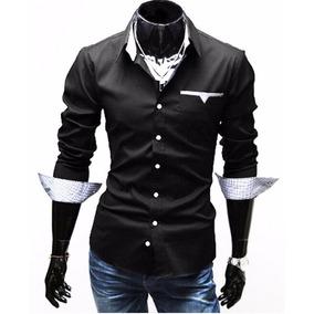 af6b15fe2d812 Camisas Ñeras Camisetas Negras - Camisas de Hombre en Mercado Libre ...