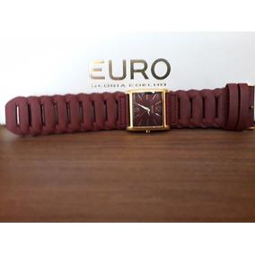 4517b55292b Relogio Euro Feminino Pulseira De Couro Marrom - Joias e Relógios no ...