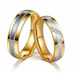 6c17c378dd9 Aliança De Ouro Casamento Com Pedrinhas - Joias e Bijuterias no ...