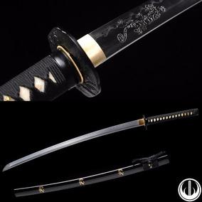 Katana Com Corte Espada Samurai Afiada Aço Dobrado Forjado