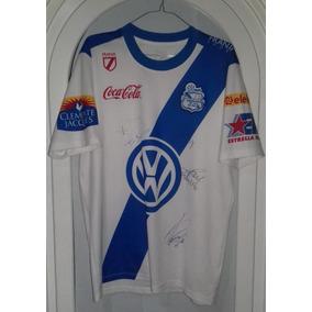 Jersey Puebla Franja Sport Talla G Autografeada Año 2012 08504deaf50db