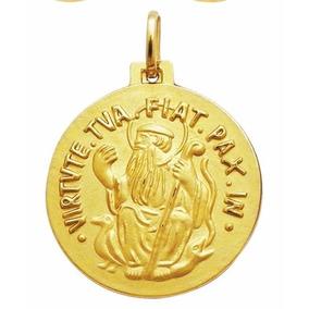 Medalha De Sao Bento Em Ouro 5 Cm - Joias e Bijuterias no Mercado ... 0a6dd0d653