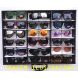 04370d44b6702 Lote 18 Óculos Revenda + Expositor Maleta Caixa Estojo Porta