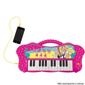 Teclado Infantil Fabuloso Barbie Função Mp3 8007-1 - Fun