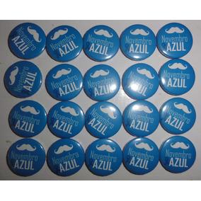 Botons Novembro Azul - 100 Unidades 2,5 Cm