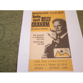 Ingresso Cruzada Evangelística Billy Graham, 1974