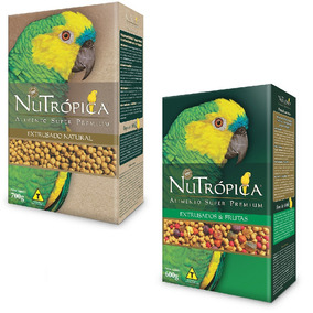 Ração Nutrópica Natural + Nutrópica Com Frutas Papagaios