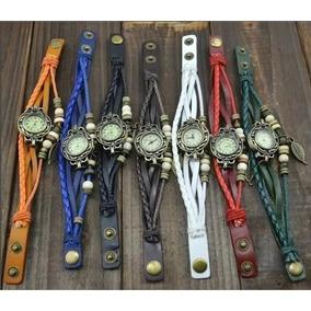 Kit 20 Relógio Feminino Vintage Pulseira Couro Pu Atacado
