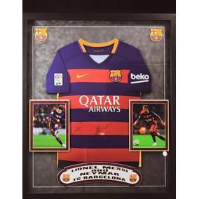 Playera Barcelona Firmada Lionel Messi Y Neymar Certificada 761765abb0b