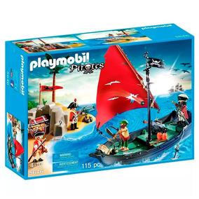 Playset Navio Pirata Com Soldados Playmobil 5646 C/ Nfe