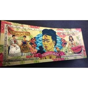 Frida Kahlo Nota Comemorativa Carteira Original Mexicana