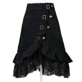 Falda Negra Steampunk Moderna Talla Chica
