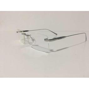 Armação Oculos Grau Cartier Sem Aro Ca2822786 Prata - Óculos no ... 35c4ece2f9
