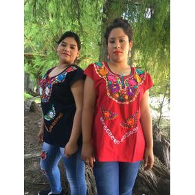 Blusas Artesanales Mexicanas Kimonas Bordadas A Maquina