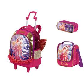 Mochilete G 2 Em 1 + Lancheira + Estojo Barbie Dreamtopia
