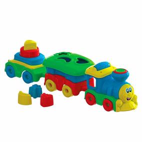 Brinquedo Educativo Trem João Fumaça Com Vagões Maral 4029