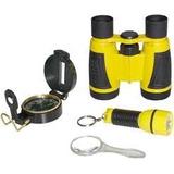 Kit Explorador Detetive Infantil Binóculos Bússola Lanterna