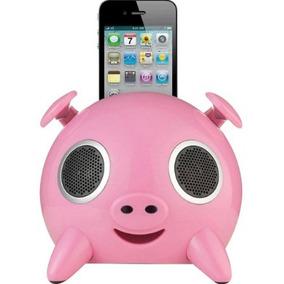 Cx De Som Portátil Docking Ispeaker Pig P/iphone4/ipod
