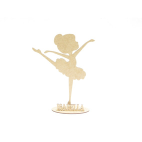 Festas Bailarinas Lembranças Personalizadas Mdf Kit Com 30pç