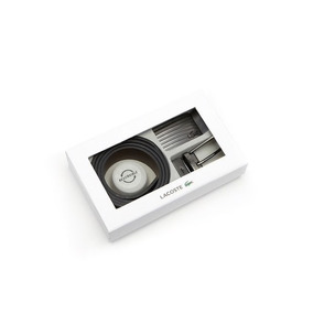 Caja Con Set De 2 Cinturones Y Hebillas Lacoste