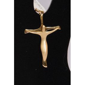 726e613289ec7 Pingente Crucifixo Em Ouro 750 Maciço Chapa 1 - Pingentes no Mercado ...