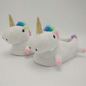 Pantuflas Unicornio Luz Led Cachetes Led Envío Gratis
