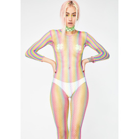 Rainbow Bodystocking Malla Arcoiris - Multicolor 5662