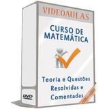 Curso 26 Dvds Matemática Completa Para Concursos A18