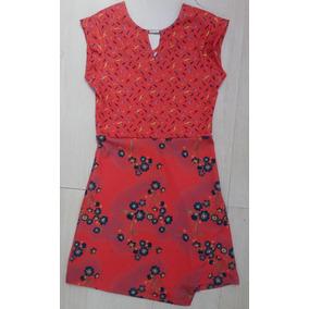 140578e68f6 Vestido Curto Infantil Estampado Verão Menina Casual Colcci